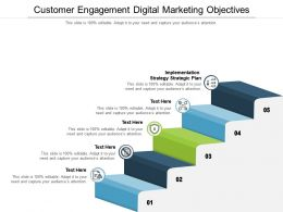 Customer Engagement Digital Marketing Objectives Ppt Powerpoint Presentation Outline Guidelines Cpb