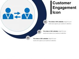 Customer Engagement Icon Example Ppt Presentation