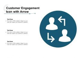 Customer Engagement Icon With Arrow