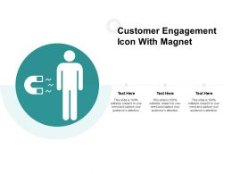 Customer Engagement Icon With Magnet