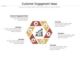 Customer Engagement Ideas Ppt Powerpoint Presentation Outline Cpb