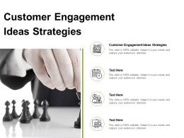Customer Engagement Ideas Strategies Ppt Powerpoint Presentation Diagram Images Cpb