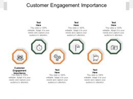 Customer Engagement Importance Ppt Powerpoint Presentation Visual Aids Infographics Cpb