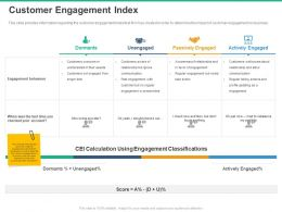 Customer Engagement Index Classifications Ppt Powerpoint Presentation Brochure