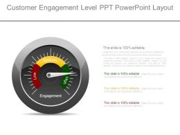 Customer Engagement Level Ppt Powerpoint Layout