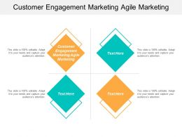 Customer Engagement Marketing Agile Marketing Ppt Powerpoint Presentation Styles Templates Cpb