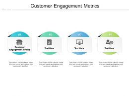 Customer Engagement Metrics Ppt Powerpoint Presentation Gallery Sample Cpb