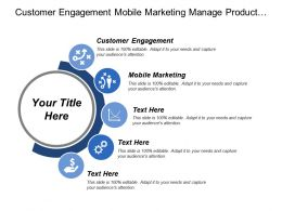 Customer Engagement Mobile Marketing Manage Product Life Cycle