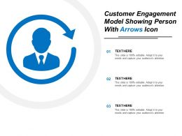 Customer Engagement Model Showing Person With Arrows Icon