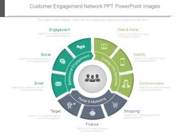 Customer Engagement Network Ppt Powerpoint Images