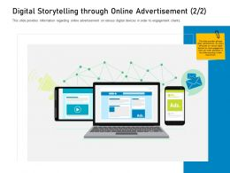 Customer Engagement On Online Platform Digital Storytelling Through Online Advertisement M3426 Ppt Good