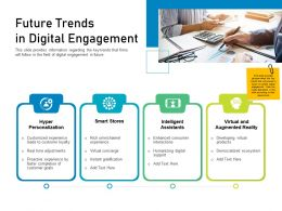 Customer Engagement On Online Platform Future Trends In Digital Engagement Ppt Powerpoint Summary