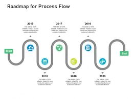 Customer Engagement On Online Platform Roadmap For Process Flow Ppt Styles Show