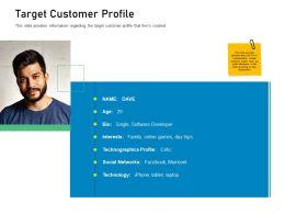 Customer Engagement On Online Platform Target Customer Profile Ppt Powerpoint Presentation Slide