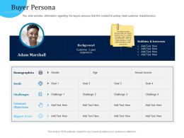 Customer Engagement Optimization Buyer Persona R763 Ppt Outline