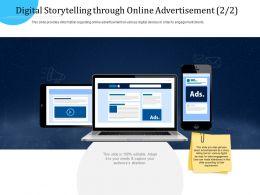 Customer Engagement Optimization Digital Storytelling Through Online Advertisement R771