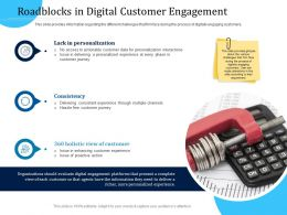Customer Engagement Optimization Roadblocks In Digital Customer Engagement