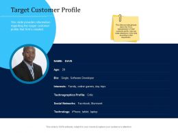 Customer Engagement Optimization Target Customer Profile Ppt Ideas