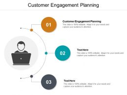 Customer Engagement Planning Ppt Powerpoint Presentation Model File Formats Cpb
