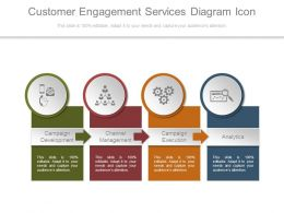 Customer Engagement Services Diagram Icon