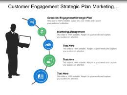 Customer Engagement Strategic Plan Marketing Management Monthly Meeting Template