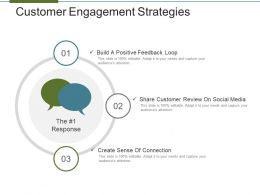 Customer Engagement Strategies Powerpoint Slide Themes