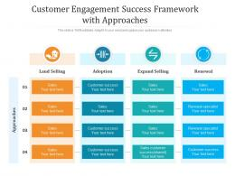Customer Engagement Success Framework With Approaches