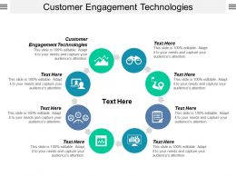 Customer Engagement Technologies Ppt Powerpoint Presentation Summary File Formats Cpb