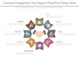 Customer Engagement Tips Diagram Powerpoint Slides Show