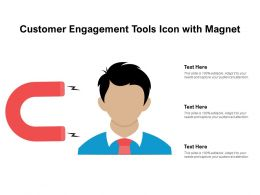 Customer Engagement Tools Icon With Magnet