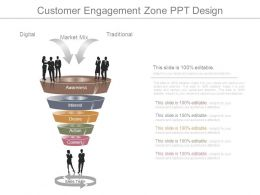 Customer Engagement Zone Ppt Design