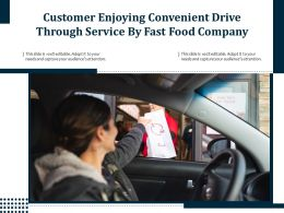 Customer Enjoying Convenient Drive Through Service By Fast Food Company