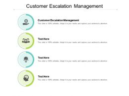 Customer Escalation Management Ppt Powerpoint Presentation Layouts Graphics Template Cpb