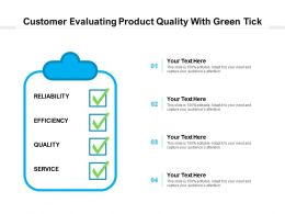 Customer Evaluating Product Quality With Green Tick