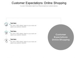 Customer Expectations Online Shopping Ppt Powerpoint Presentation Show Samples Cpb