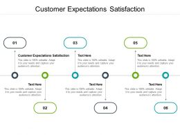 Customer Expectations Satisfaction Ppt Powerpoint Presentation Gallery Design Templates Cpb