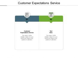 Customer Expectations Service Ppt Powerpoint Presentation Slides Smartart Cpb