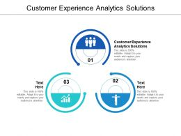 Customer Experience Analytics Solutions Ppt Powerpoint Presentation Icon Graphics Cpb