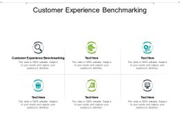 Customer Experience Benchmarking Ppt Powerpoint Presentation Portfolio Icons Cpb
