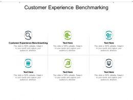 Customer Experience Benchmarking Ppt Powerpoint Presentation Portfolio Icons Cpb