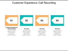 Customer Experience Call Recording Ppt Powerpoint Presentation Layouts Show Cpb