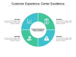 Customer Experience Center Excellence Ppt Powerpoint Presentation Infographics Slide Cpb