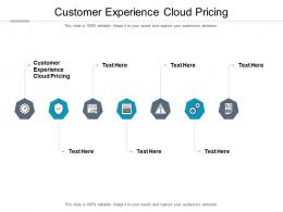 Customer Experience Cloud Pricing Ppt Powerpoint Presentation Infographics Model Cpb