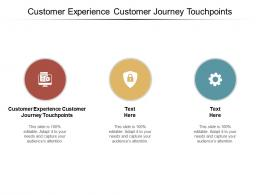 Customer Experience Customer Journey Touchpoints Ppt Powerpoint Presentation Outline Diagrams Cpb