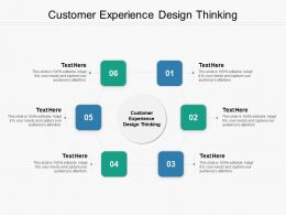Customer Experience Design Thinking Ppt Powerpoint Presentation Outline Graphics Pictures Cpb