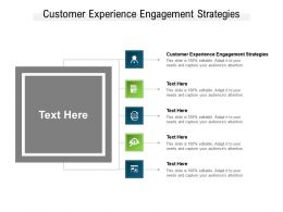 Customer Experience Engagement Strategies Ppt Powerpoint Presentation Slides Infographic Template Cpb
