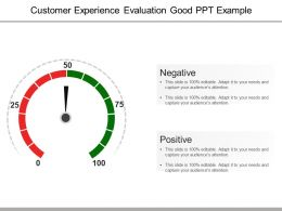 Customer Experience Evaluation Good Ppt Example