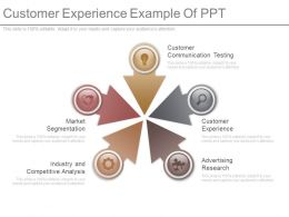 Customer Experience Example Of Ppt