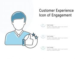 Customer Experience Icon Of Engagement