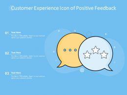Customer Experience Icon Of Positive Feedback